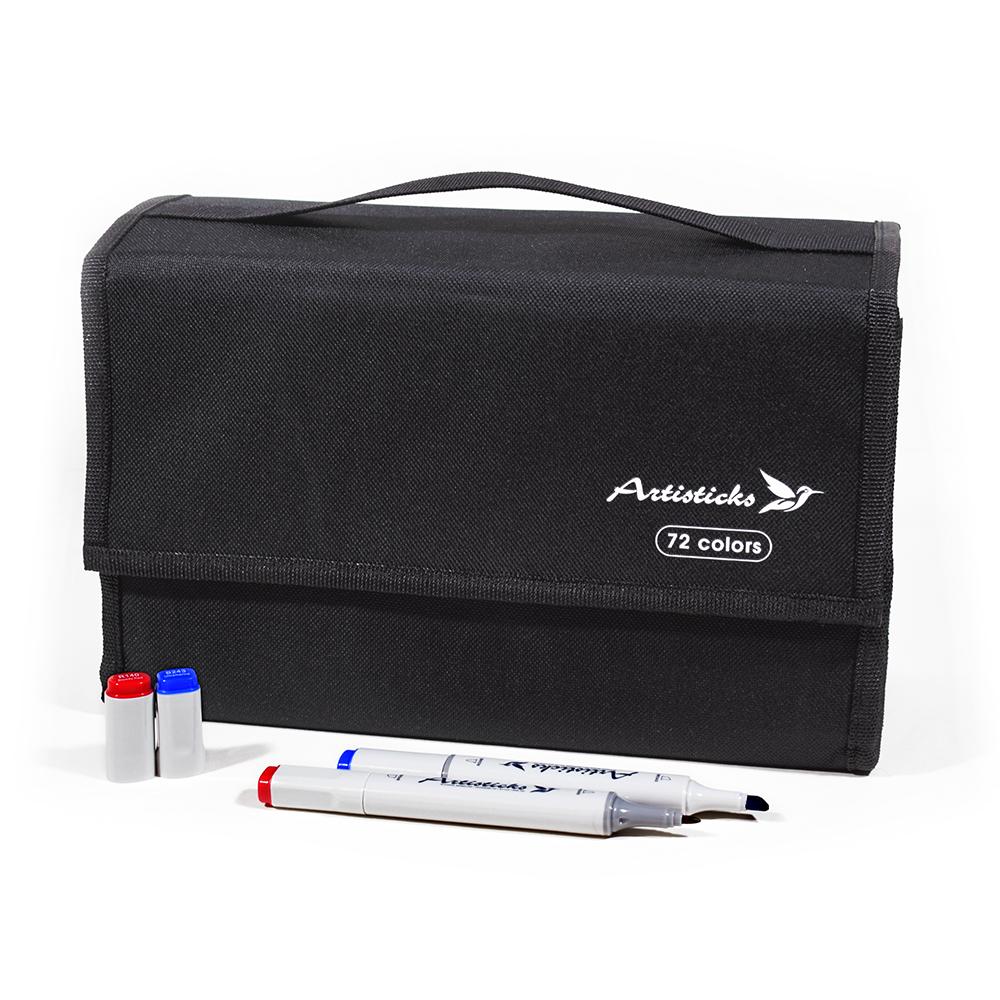 Набор маркеров для скетчинга Artisticks Style в сумке-органайзере, CASE 72 цвета