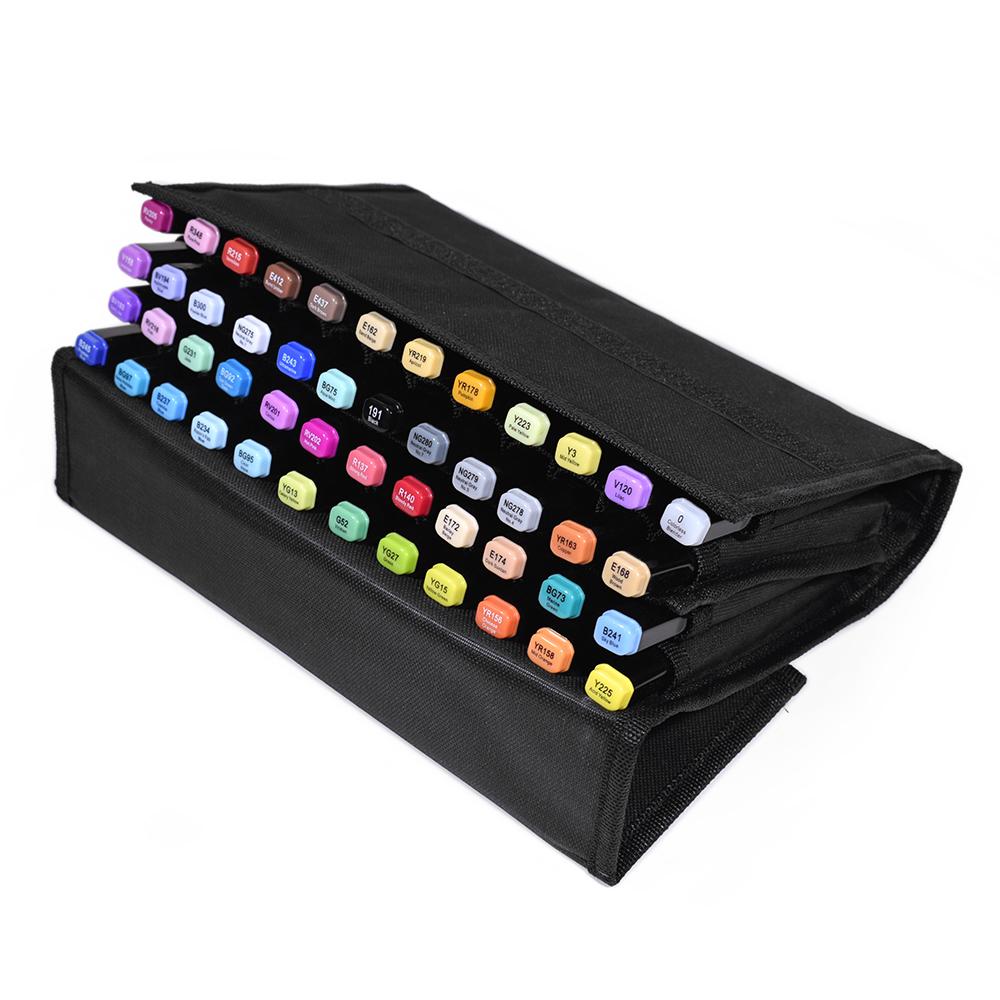 Набор профессиональных маркеров для скетчинга ARTISTICKS BRUSH в сумке-органайзере, CASE 48 цветов