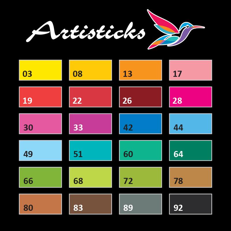 Набор художественных капиллярных ручек -линеров Artisticks LINER 300 Box, 24 цвета