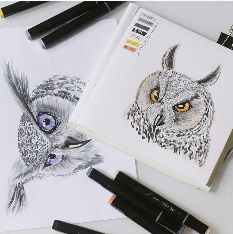 Профессиональные маркеры для скетчинга и рисования Artisticks Brush Fashion, 24 цвета, 2-сторонние с кистью