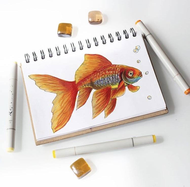 Профессиональные художественные маркеры для скетчинга и рисования Artisticks Style ILLUSTRATOR, 24 цвета, 2-сторонние, 1-6 мм