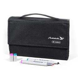 Набор маркеров для скетчинга Artisticks Style в сумке-органайзере, CASE 48 цветов