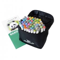 Профессиональные художественные маркеры для скетчинга и рисования Artisticks Basic 101bag, 60 цветов, 2-сторонние, 1-6 мм
