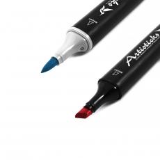 Профессиональные художественные маркеры для скетчинга и рисования Artisticks BRUSH 102, 2-сторонние, 1-6 мм, поштучно