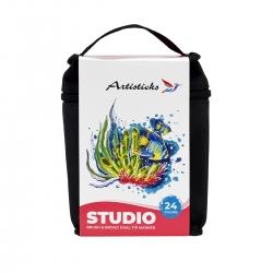 Набор художественных маркеров с кистью ARTISTICKS BRUSH в сумке, 24 цвета