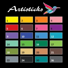 Профессиональные художественные маркеры для скетчинга на водной основе Artisticks AQUA 201 Bag, 24 цвета, двусторонние, 1-6мм