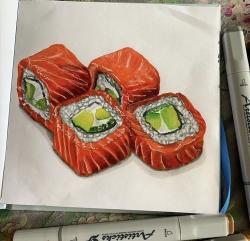 Набор художественных маркеров с кистью ARTISTICKS BRUSH CASE в сумке-органайзере, 24 цвета